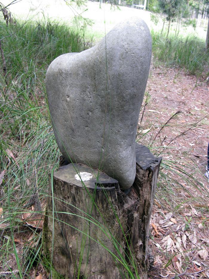 Stone sculpture at Nurra Bukulla