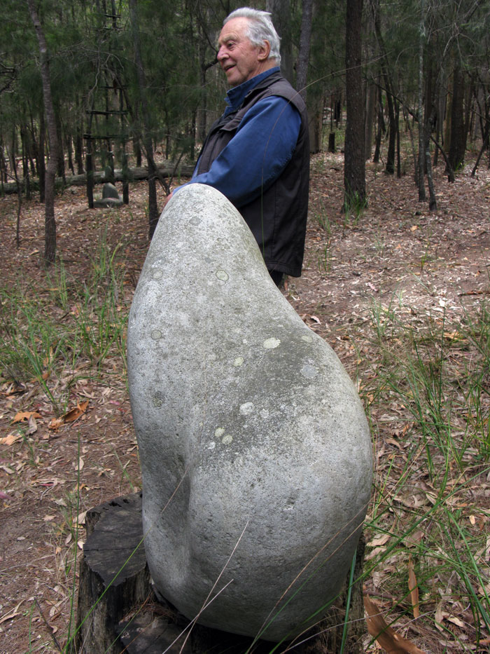 Stone Sculpture with Marr in background