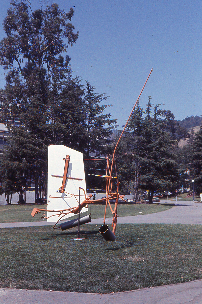 Kinetic piece on lawn